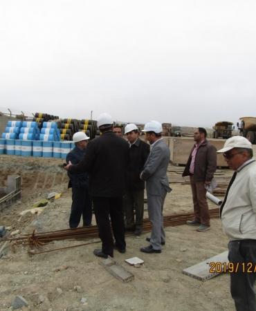 بازدید جناب مهندس حقیقت از پروژه مجتمع تعمیرگاهی معدن 4 گل گهر سیرجان