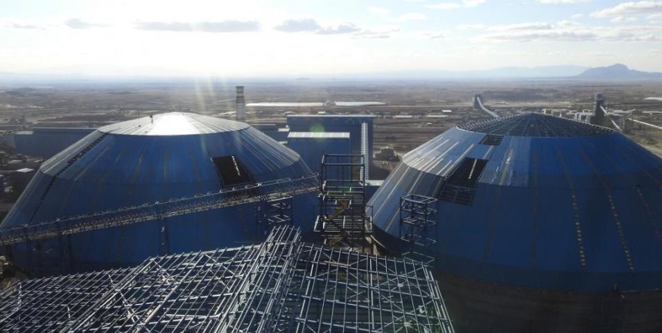 پروژه ساخت و نصب اسکلت فلزی سازه کنسانتره سنگان