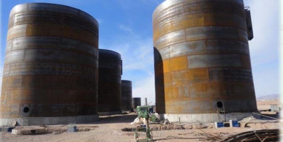 ساخت و نصب سازه و مخازن  گندله سازی زرند