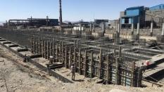 اجرای ابنیه و ساخت و نصب اسکلت فلزی آبگیری از باطله کنسانتره فولاد زرند فولاد زرند