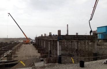 پروژه اجرای ابنیه و ساخت و نصب اسکلت فلزی آبگیری از باطله کنسانتره فولاد زرند فولاد زرند